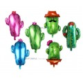 [Ready Stock] ( 1 Piece) Large Size Prickly Cactus Cacti Desert Green Theme Foil Balloon Wall Decoration
